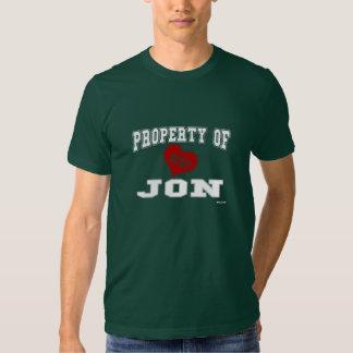 Property of Jon T-shirts