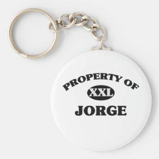 Property of JORGE Keychain