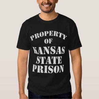 Property of Kansas State Prison Tee Shirt