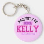 PROPERTY OF KELLY KEYCHAINS