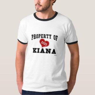 Kiana t shirts shirt designs zazzle for Property of shirt designs