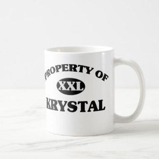 Property of KRYSTAL Coffee Mug