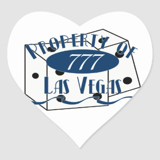 Property of Las Veags Heart Sticker