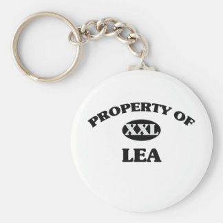 Property of LEA Basic Round Button Keychain