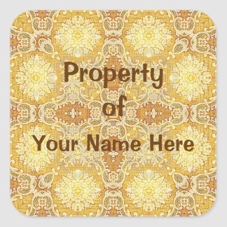 Property of  Lemoon Stickers (Personalise) Square Sticker