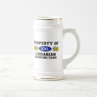 Property of Librarian Drinking Team Beer Stein