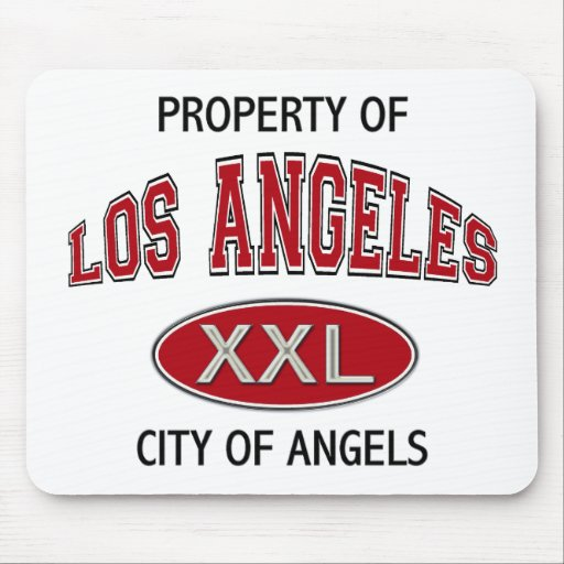 PROPERTY OF LOS ANGELES CITY OF ANGELS MOUSE PAD