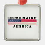 Property Of Maine Christmas Tree Ornament