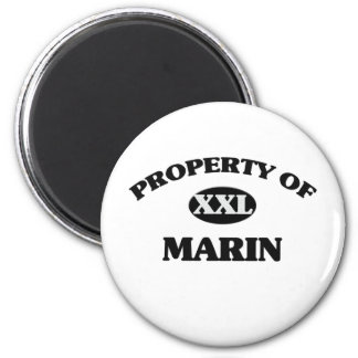 Property of MARIN 2 Inch Round Magnet