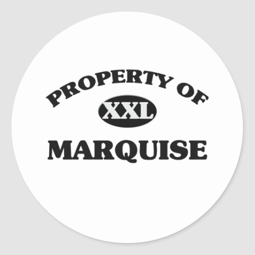 Property of MARQUISE Classic Round Sticker