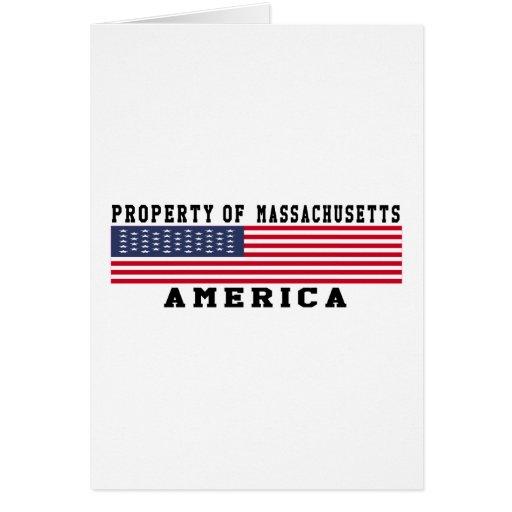 Property Of Massachusetts Greeting Card