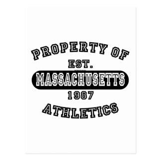 Property of Massachusetts shirts Postcard