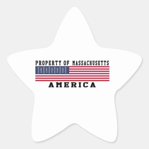 Property Of Massachusetts Star Sticker