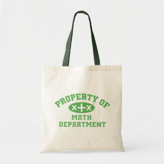 Property Of Math Department (green x+x) Tote Bag