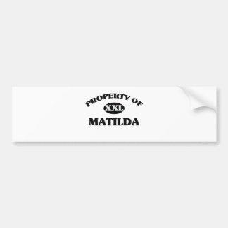 Property of MATILDA Bumper Sticker
