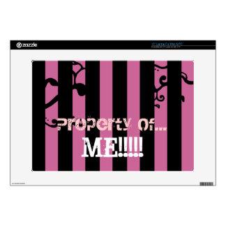 """Property Of ME"" Custom Striped Laptop Skin"