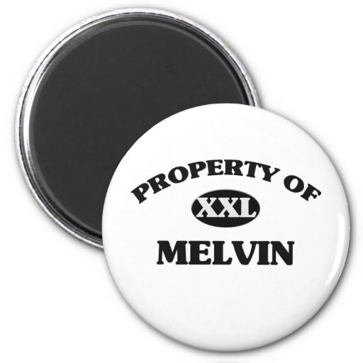 Property of MELVIN 2 Inch Round Magnet