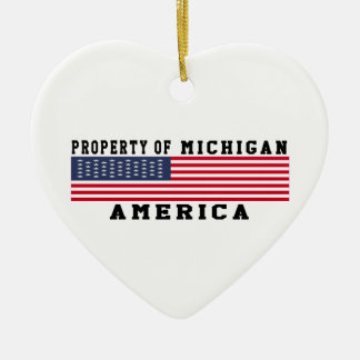 Property Of Michigan Christmas Tree Ornament
