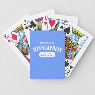 Property of Minneapolis Bicycle Playing Cards