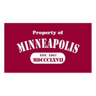 Property of Minneapolis Business Card