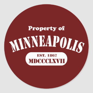 Property of Minneapolis Classic Round Sticker