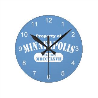 Property of Minneapolis Round Clock