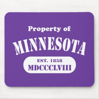 Property of Minnesota - any color! Mousepads