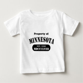Property of Minnesota - black text Baby T-Shirt