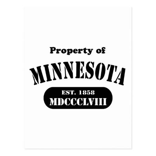 Property of Minnesota - black text Postcard