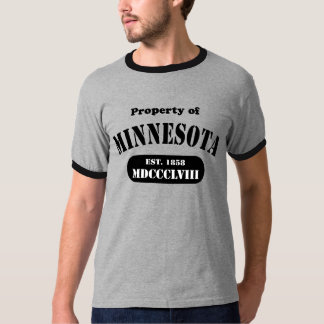 Property of Minnesota - black text T-Shirt