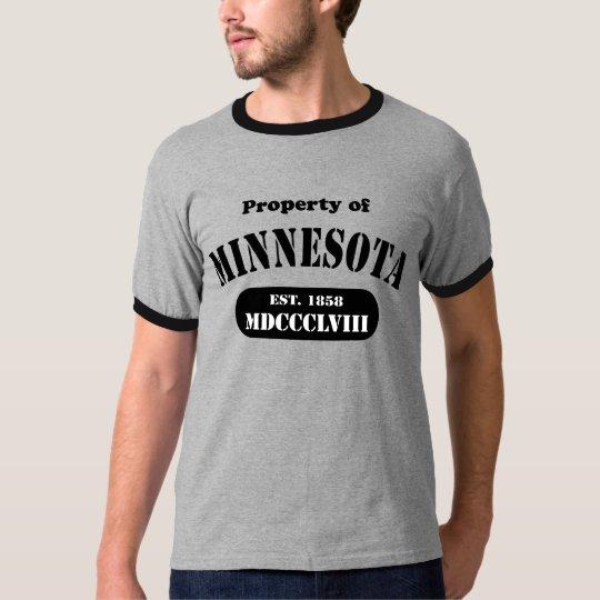 Property of Minnesota - black text T-Shirt