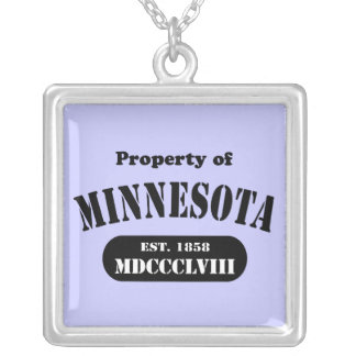 Property of Minnesota Silver Plated Necklace