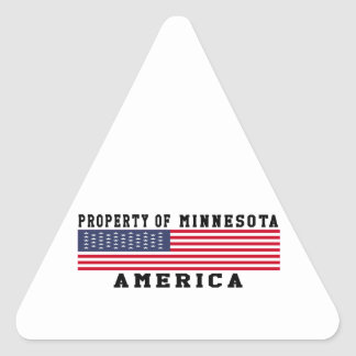 Property Of Minnesota Triangle Sticker