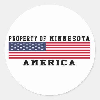 Property Of Minnesota Classic Round Sticker