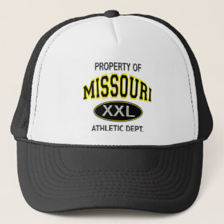 PROPERTY OF MISSOURI ATHLETIC DEPT. TRUCKER HAT