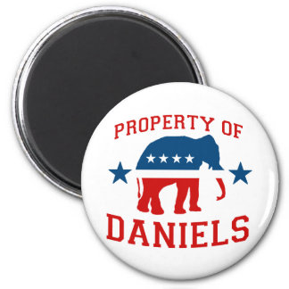 PROPERTY OF MITCH DANIELS 2 INCH ROUND MAGNET