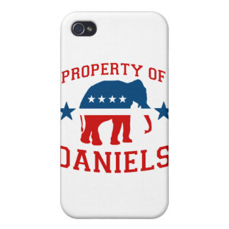 PROPERTY OF MITCH DANIELS iPhone 4/4S CASES