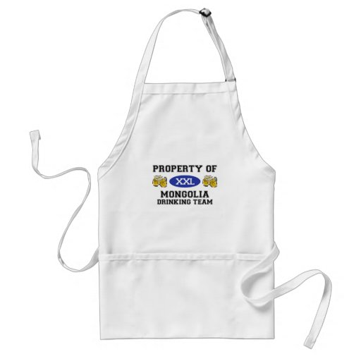 Property of Mongolia Drinking Team Adult Apron