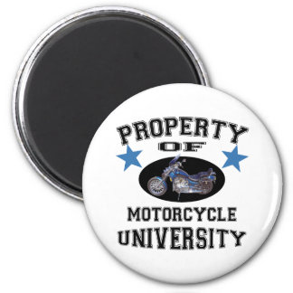 Property Of Motorcycle University 2 Inch Round Magnet
