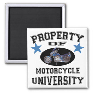 Property Of Motorcycle University 2 Inch Square Magnet