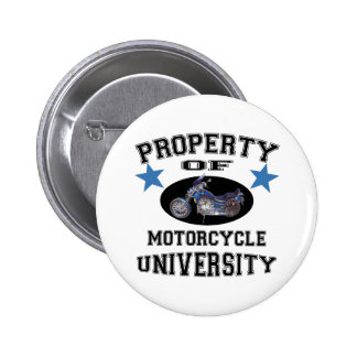 Property Of Motorcycle University Pinback Buttons