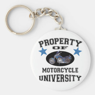 Property Of Motorcycle University Keychain