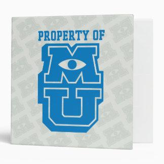 Property of MU Logo 3 Ring Binder