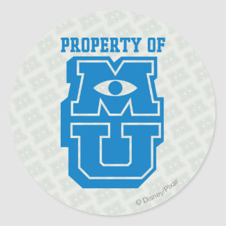 Property of MU Logo Classic Round Sticker