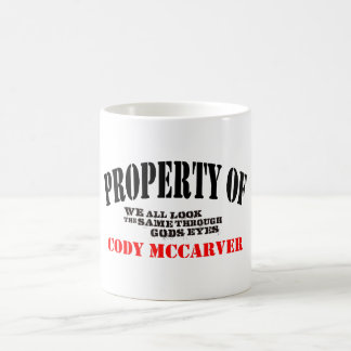 Property of classic white coffee mug
