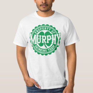 Property of Murphy Irish Drinking Team Shirt