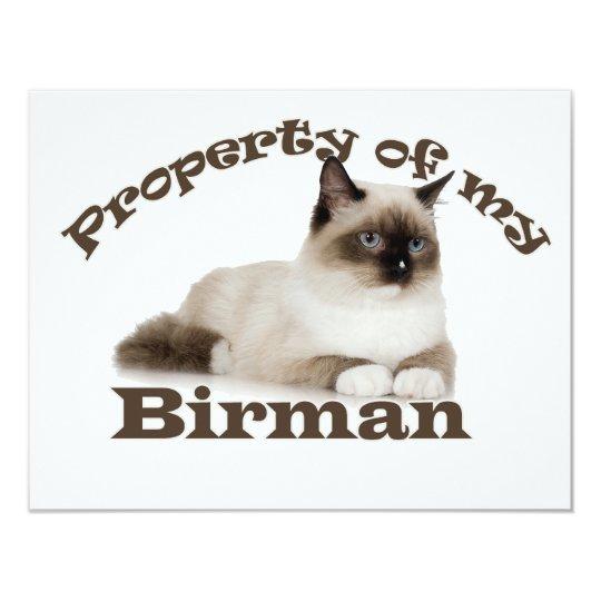 Property of My Birman Card
