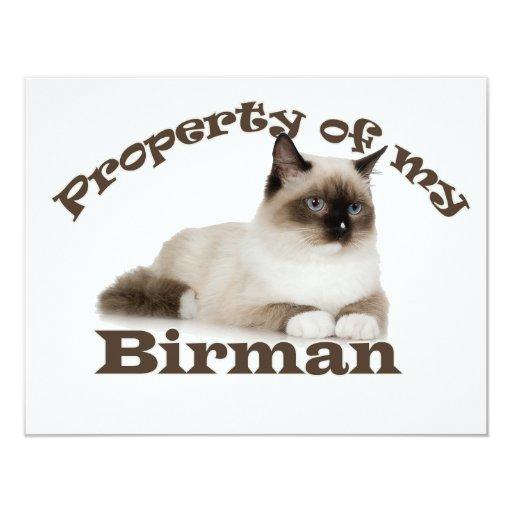Property of My Birman Custom Invites