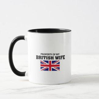 Property of my British Wife Mug