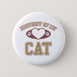 Property of My Cat Collegiate Button